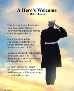 a hero's welcome - for Gold Star Familes