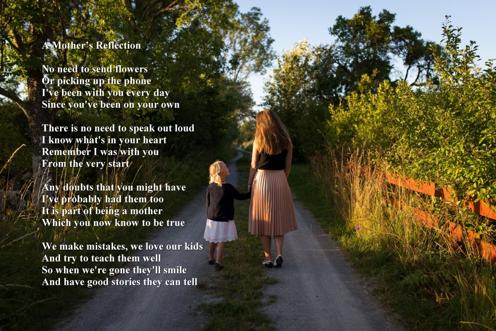 A Mother's Reflection - Sacred Poems - inspirational ...