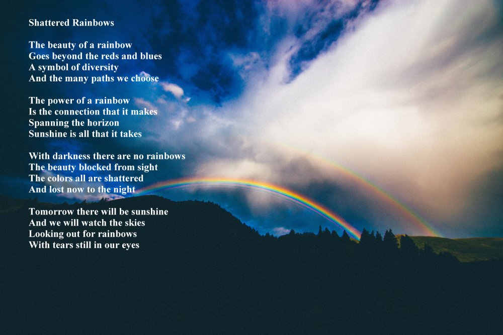 Shattered Rainbows Sacred Poems Inspirational Poetry Books