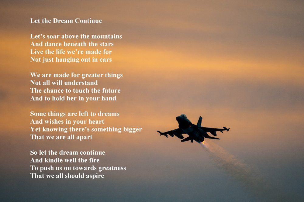 Let The Dream Continue Sacred Poems Inspirational